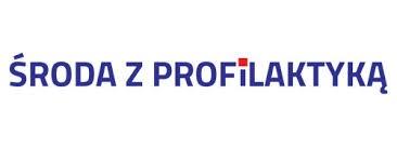 Grafika przedstawia logo akcji (tekst) Środa z profilaktyką